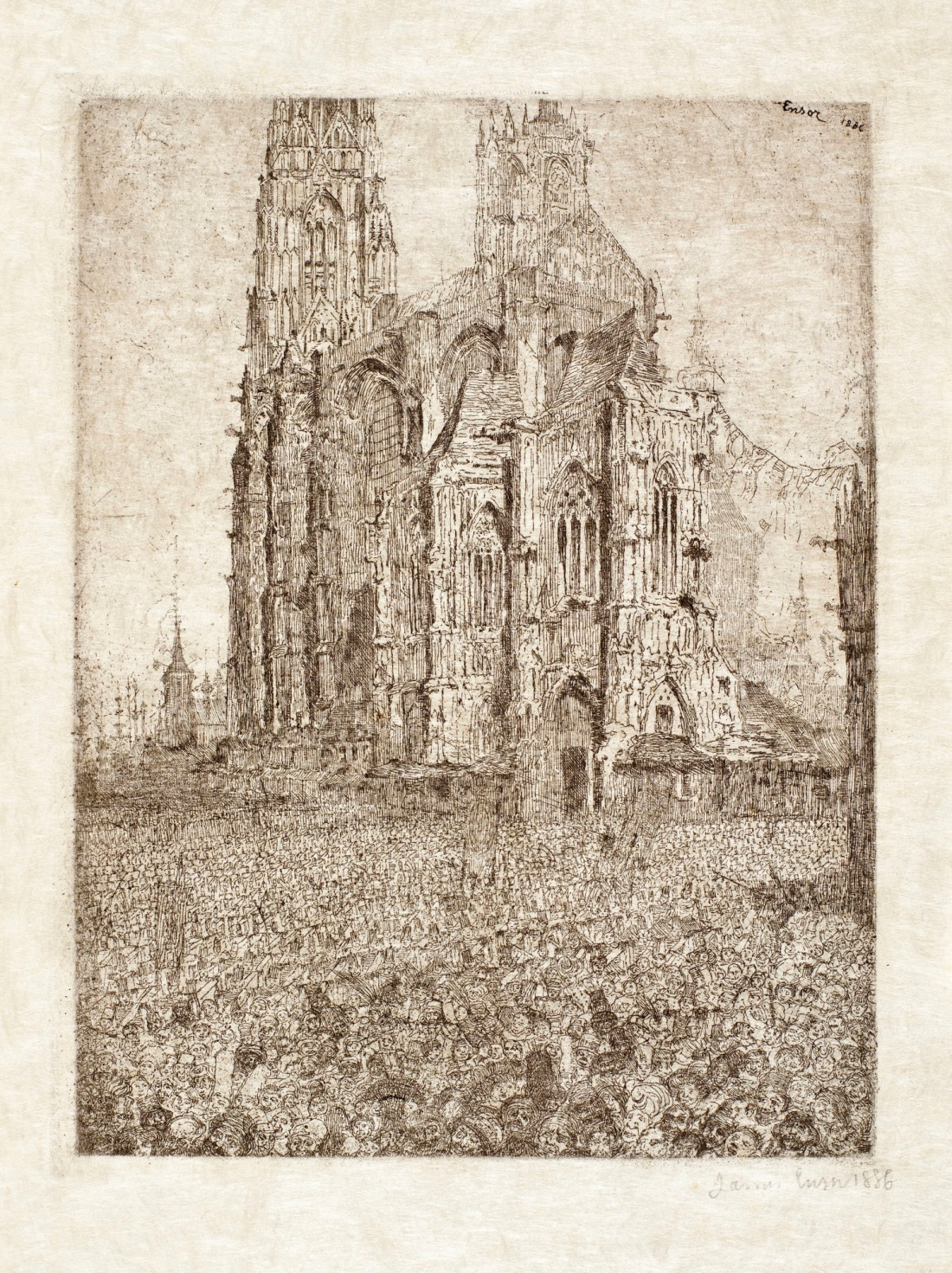 James Ensor, The Cathedral, 1886.
