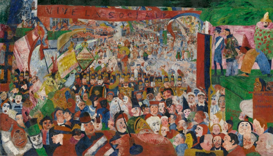 James Ensor, Christ's Entry into Brussels in 1889, 1888.