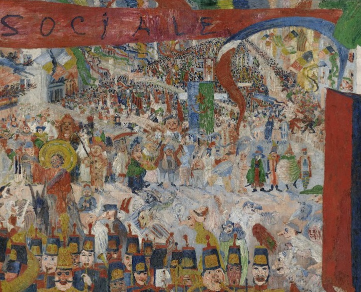 James Ensor, Christ's Entry into Brussels in 1889 (detail), 1888.