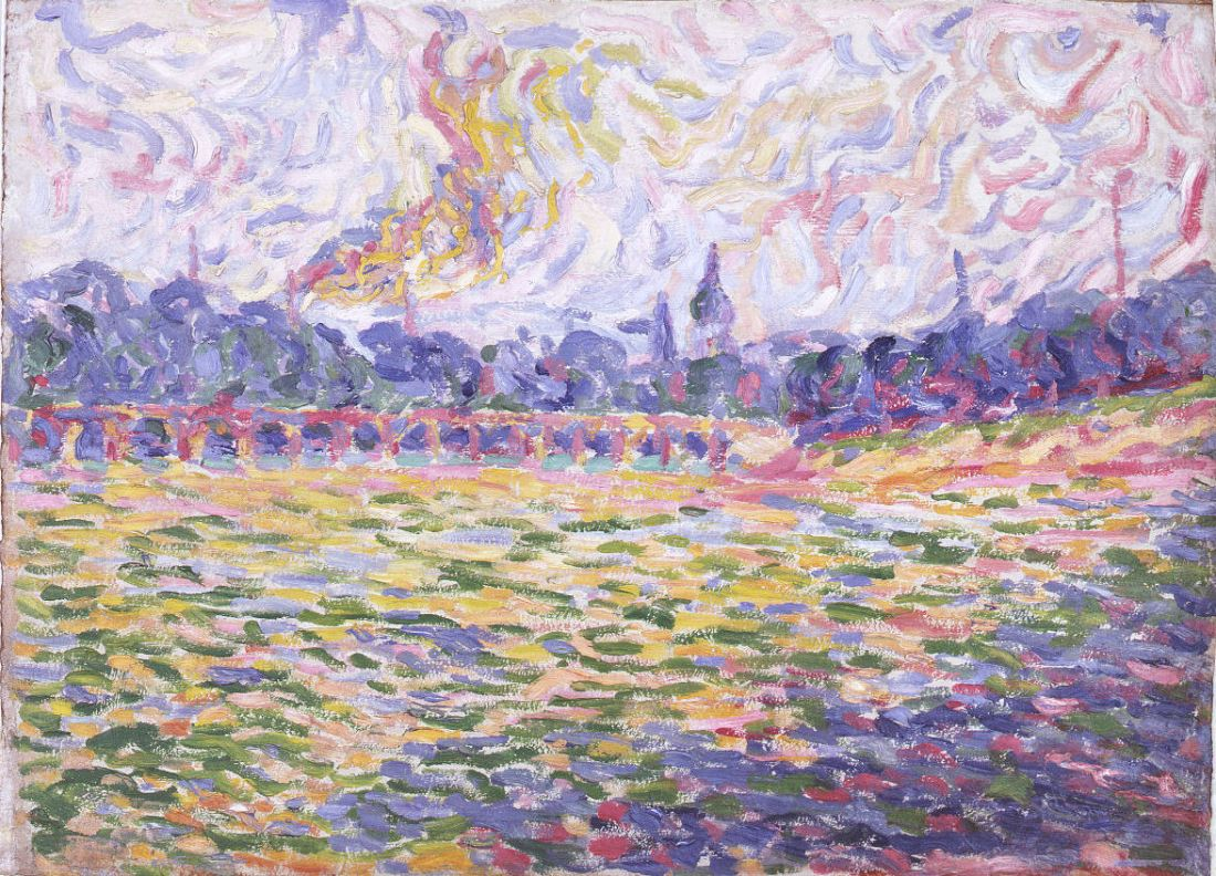 Erich Heckel, The Elbe at Dresden, 1905.