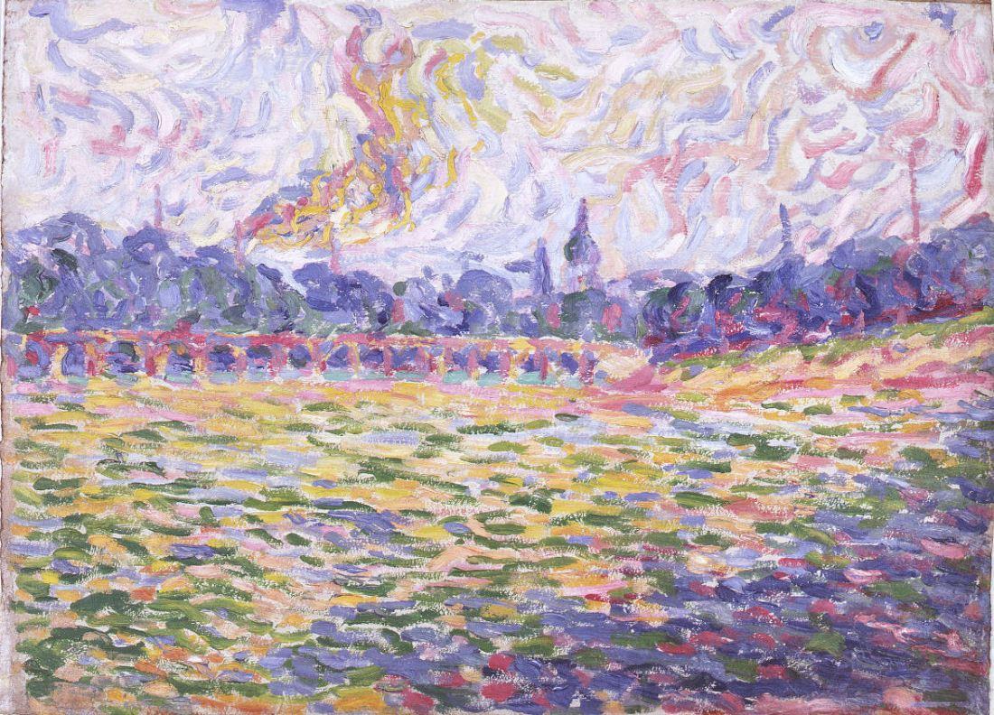 Erich Heckel, The Elbe at Dresden, 1905.