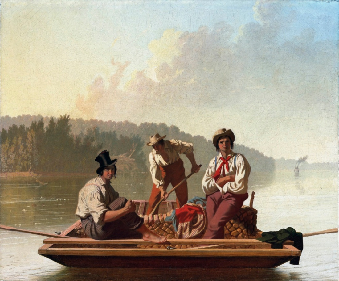 George Caleb Bingham, Boatmen on the Missouri, 1846. Collection of the Fine Arts Museums of San Francisco.