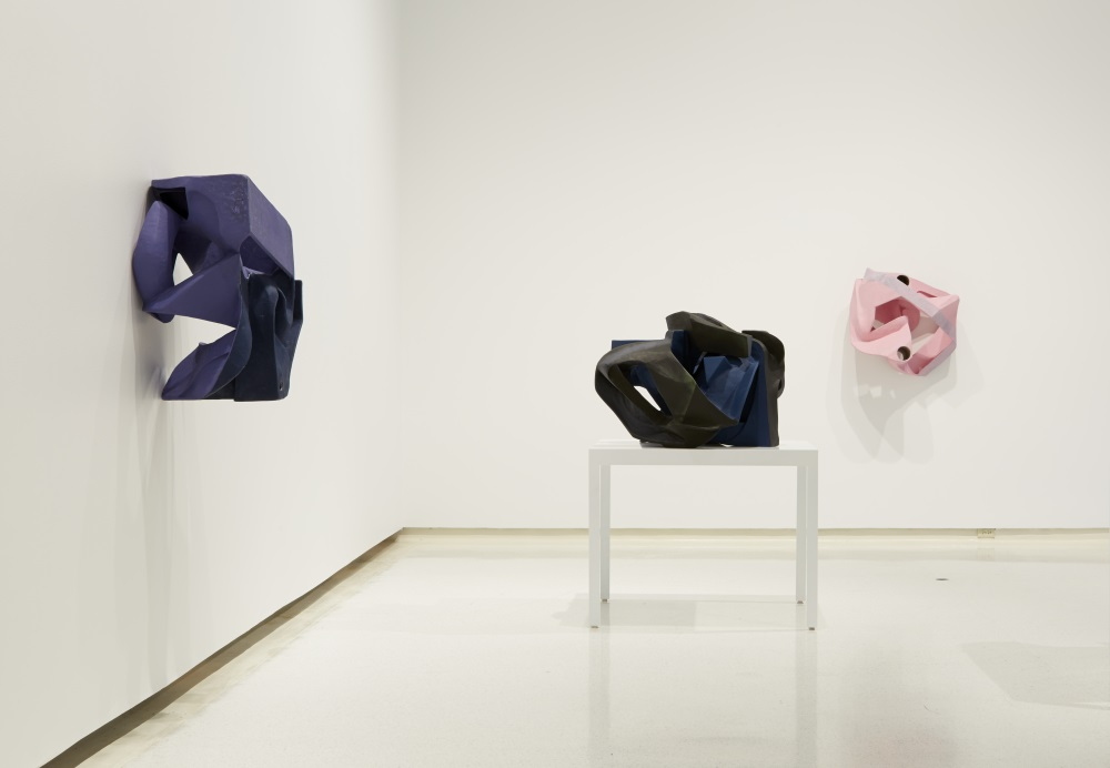 Installation view of works by Vincent Fecteau at the 2013 Carnegie International.