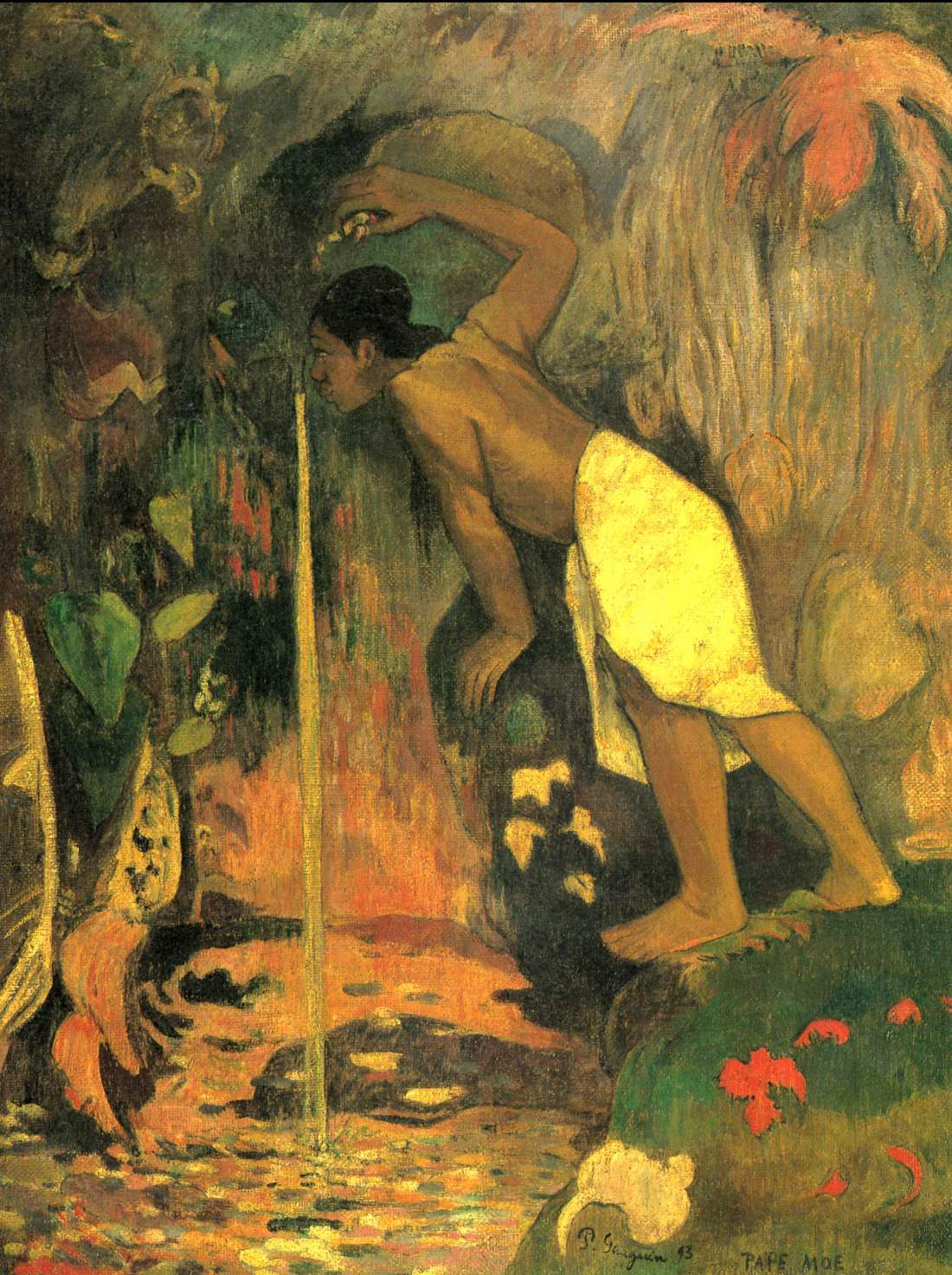 Paul Gauguin, Mysterious Waters (Pape Moe), 1893.