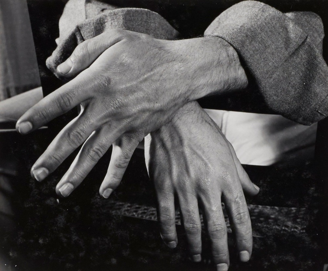 "Minor White, Tom Murphy, San Francisco, 1947. No. 4 in the sequence ""The Temptation of St. Anthony Is Mirrors,"" 1948."