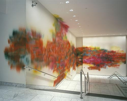 Katharina Grosse, installation view at the Hammer Museum, 2001.