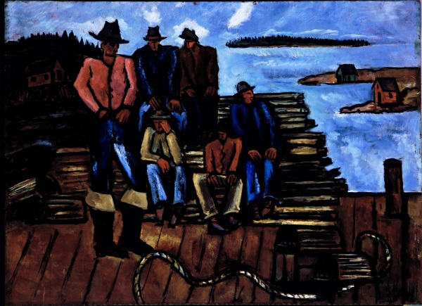 Marsden Hartley, Lobster Fishermen, 1940-41. Collection of the Metropolitan Museum of Art, New York.