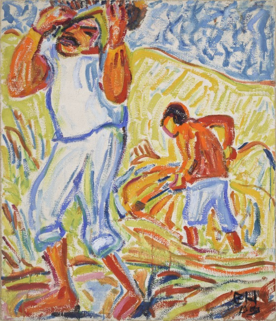 Erich Heckel, Sand Diggers on the Tiber, 1909.