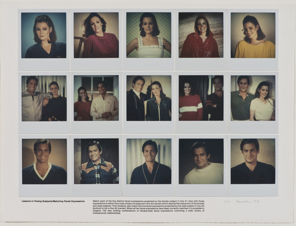 Robert Heinecken, Lessons in Posing Subjects/Matching Facial Expressions, 1981. Collection of the UCLA Grunwald Center for Graphic Art, Hammer Museum, Los Angeles.