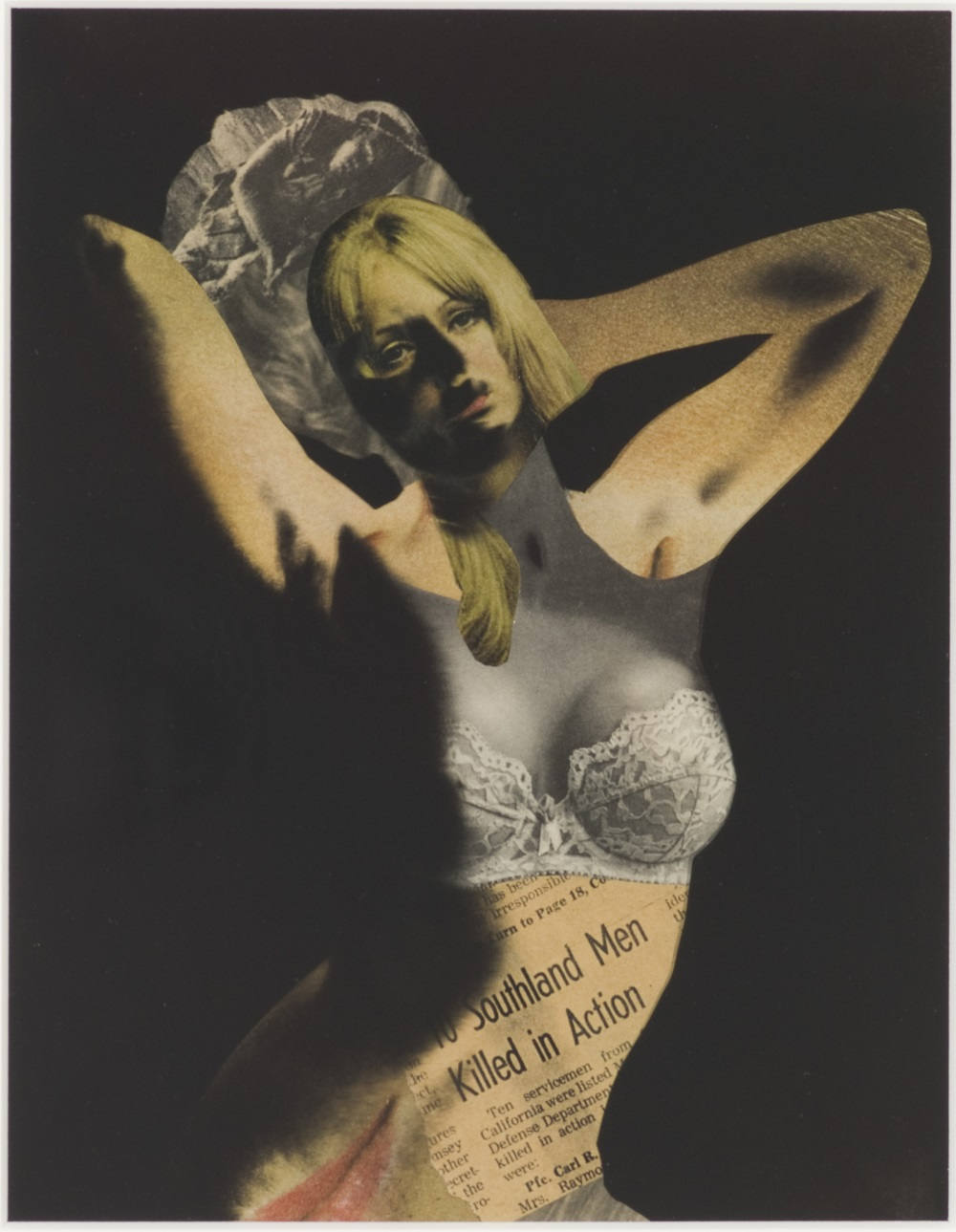 Robert Heinecken, V. N. Pin Up, 1968. Collection of the Museum of Contemporary Art, Chicago.