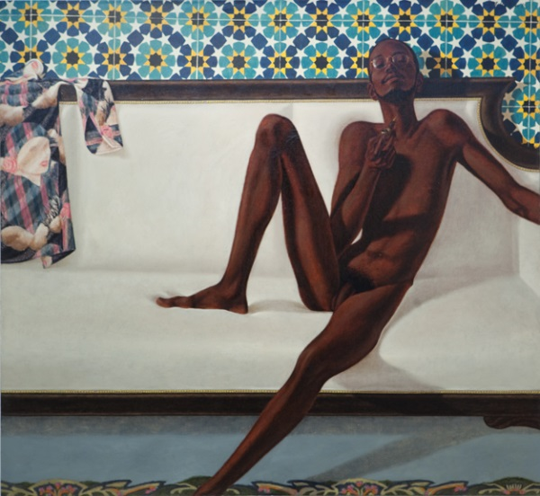 Barkley L. Hendricks, Family Jules: NNN (No Naked Niggahs), 1974. Collection of Tate, London.