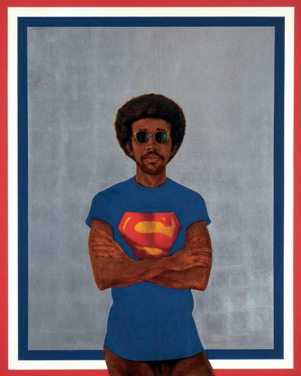 Barkley L. Hendricks, Icon for My Man Superman (Superman never saved any black people—Bobby Seale), 1969.