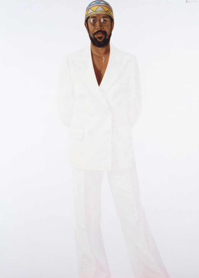 Barkley L. Hendricks, Slick (Self-Portrait), 1977. Collection of the Chrysler Museum of Art, Norfolk, Va.