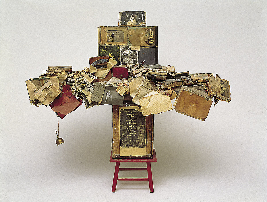 George Herms, The Librarian, 1960. Collection of the Norton Simon Museum, Pasadena.