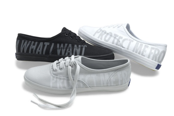 Jenny Holzer-designed sneakers for Keds. Sold in 2010.