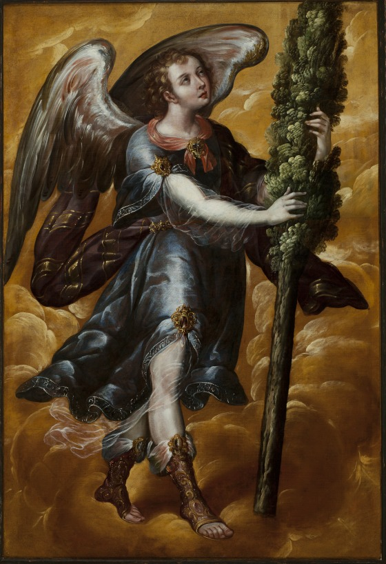 Juan Correa, Angel Carrying a Cypress, c. 1670-90.