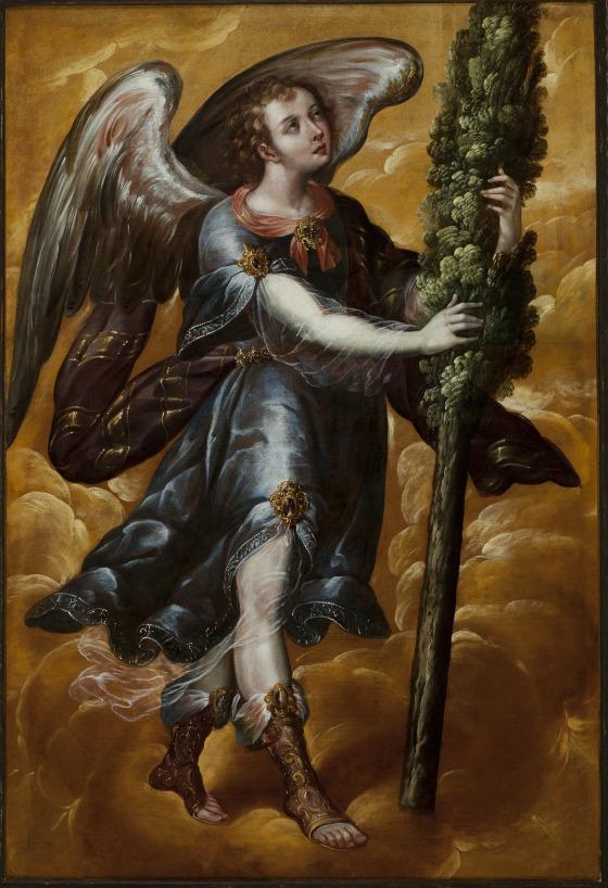 Juan Correa, Angel Carrying a Cypress, c. 1670-90.