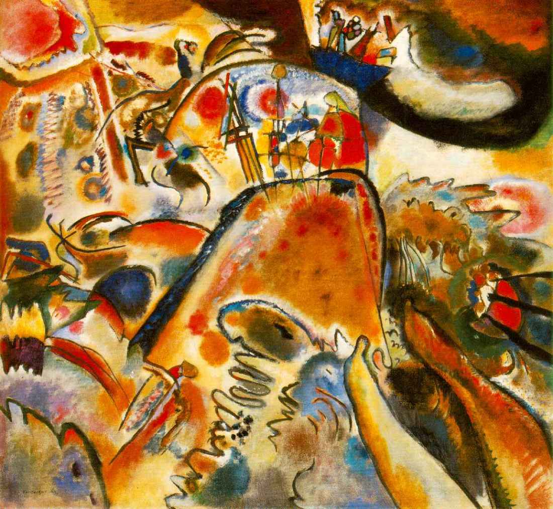 Vasily Kandinsky, Small Pleasures, 1913. Collection of the Solomon R. Guggenheim Museum, New York.