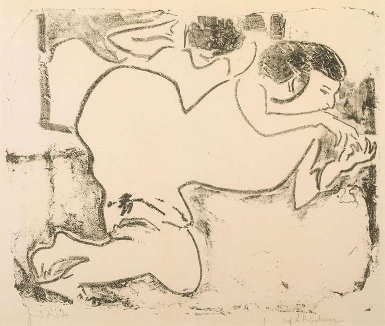 Ernst Ludwig Kirchner, Dodo Playing with Her Fingers, 1909. Collection of the Milwaukee Art Museum.