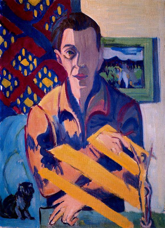 Ernst Ludwig Kirchner, Self-Portrait, 1934-37.