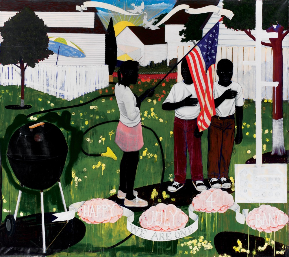 Kerry James Marshall, Bang, 1994.