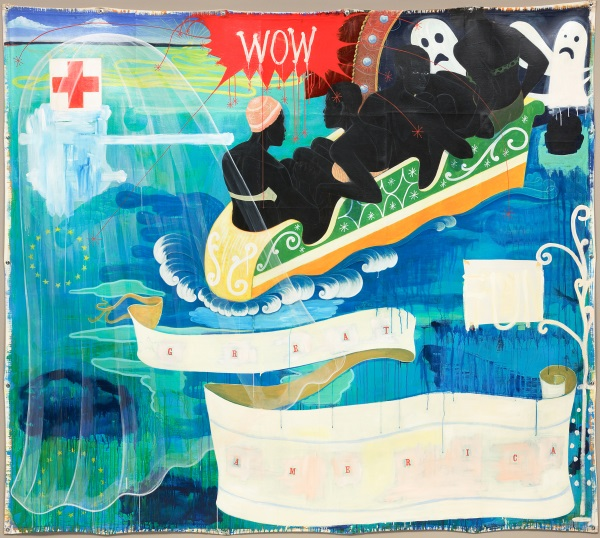 Kerry James Marshall, Great America, 1994. Collection of the National Gallery of Art, Washington.