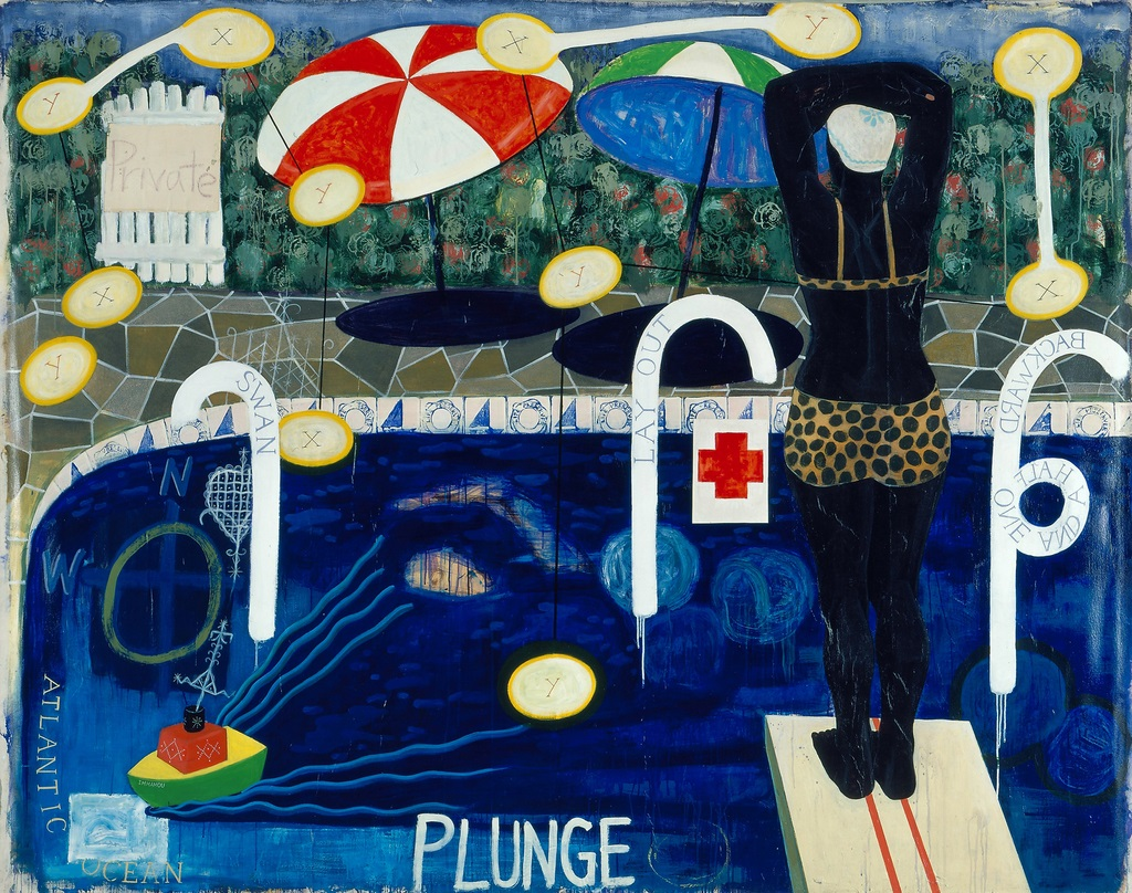 Kerry James Marshall, Plunge, 1992.