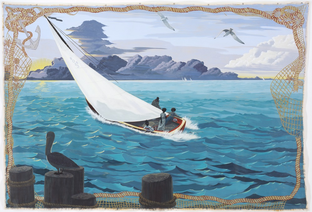 Kerry James Marshall, Gulf Stream, 2003. Collection of the Walker Art Center, Minneapolis.