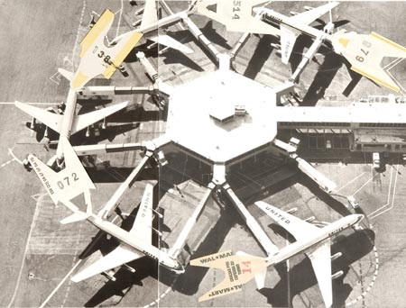 Gabriel Kuri, Untitled (planes in a circle), 2006.