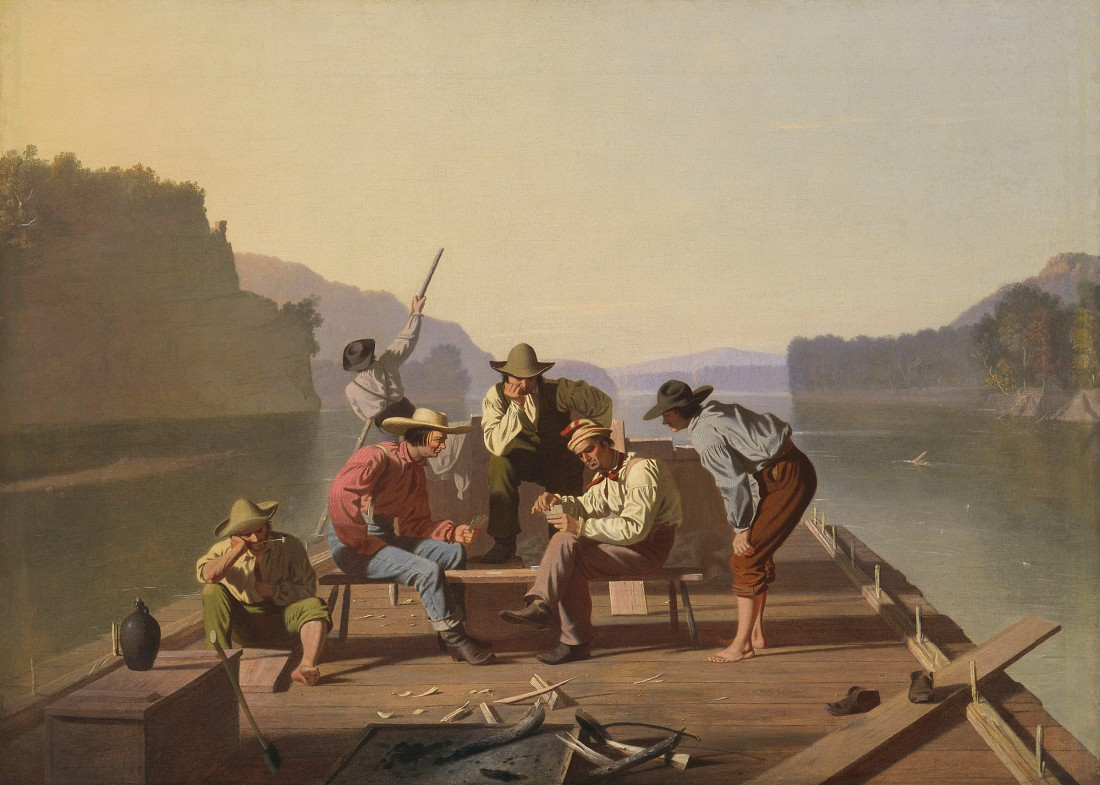 George Caleb Bingham, Raftsmen Playing Cards, 1847.