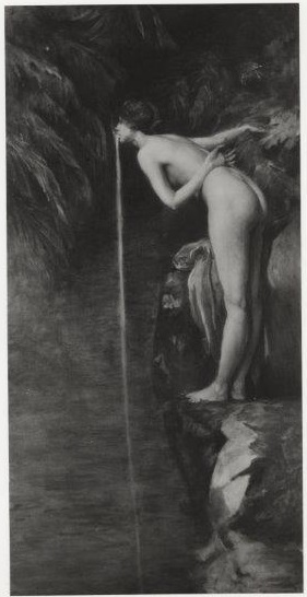 John La Farge, After the Bath, South Seas, Tahiti, ca. 1895-1908. Photograph dates to before its restoration after 1929. Photograph in the collection of the Beinecke Rare Book and Manuscript Library, Yale University.