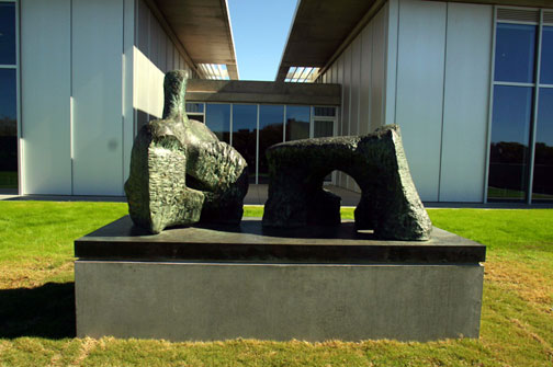 Henry Moore, Two-Piece Reclining Figure No. 2, 1960. Collection of the Modern Art Museum of Fort Worth.