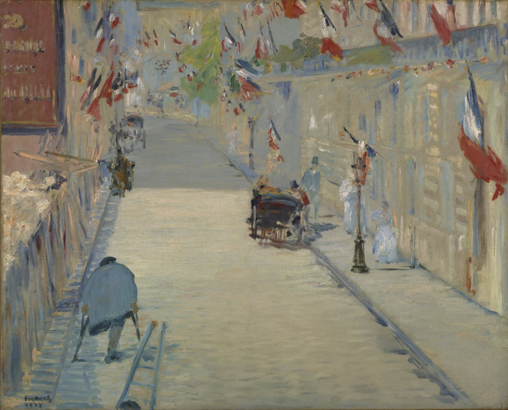 Edouard Manet, The Rue Mosnier with Flags, 1878. Collection of the J. Paul Getty Museum, Los Angeles.