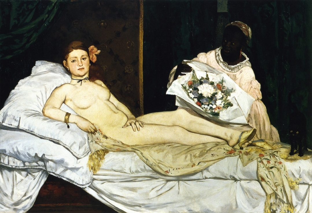 Edouard Manet, Olympia, 1863. Collection of the Musee d'Orsay, Paris.