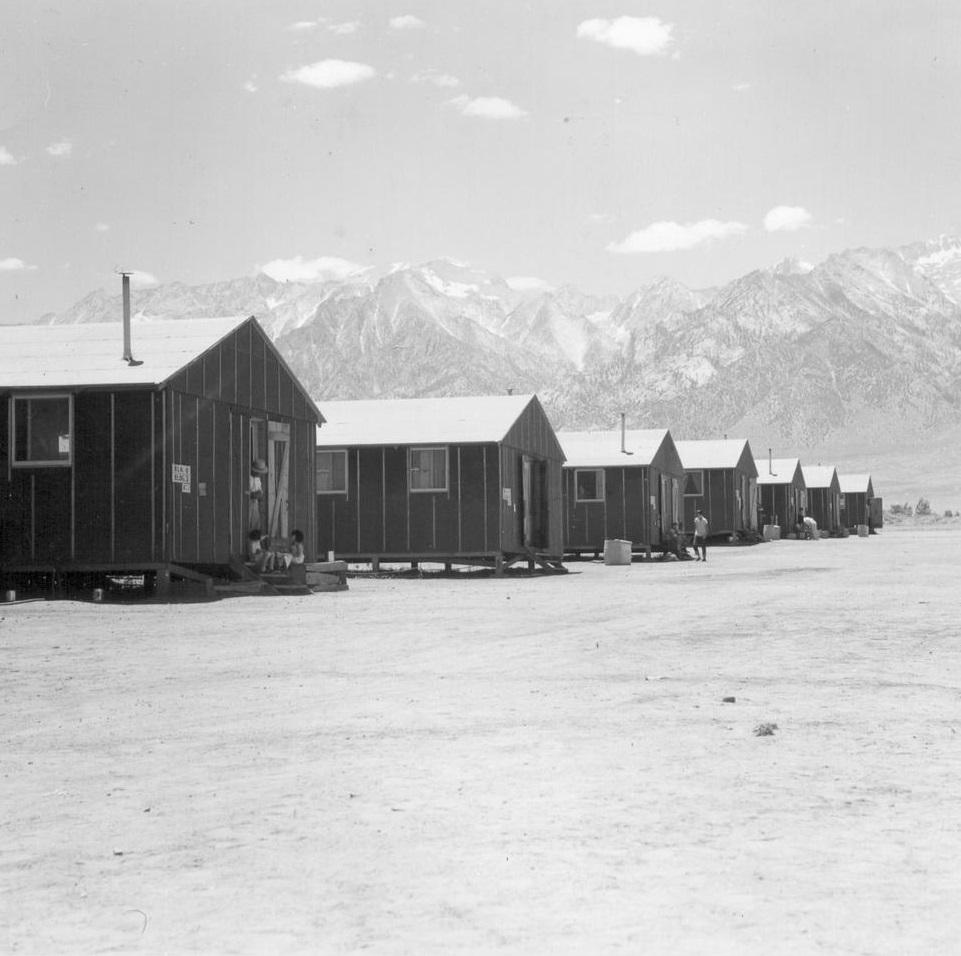 Dorothea Lange, Manzanar, Calif. (detail), 1942.