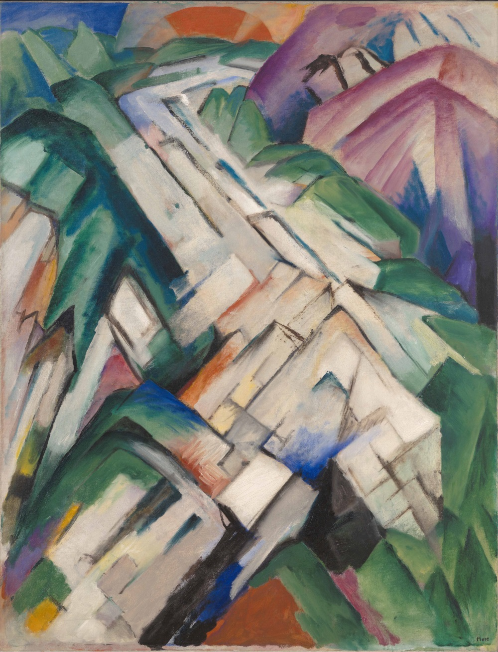 Franz Mac, Stony Path (Mountains/Landscape), 1911-12. Collection of the San Francisco Museum of Modern Art.