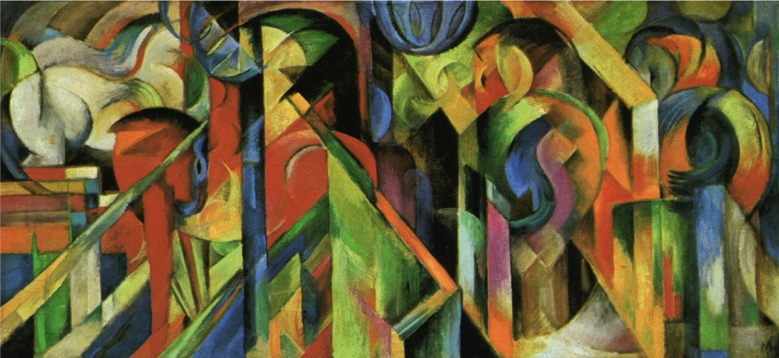 Franz Marc, Stables, 1913. Collection of the Solomon R. Guggenheim Museum, New York.