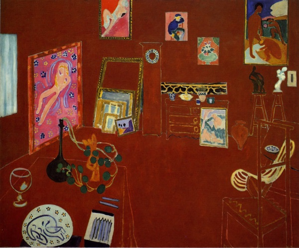 Henri Matisse, The Red Studio, 1911. Collection of the Museum of Modern Art, New York.