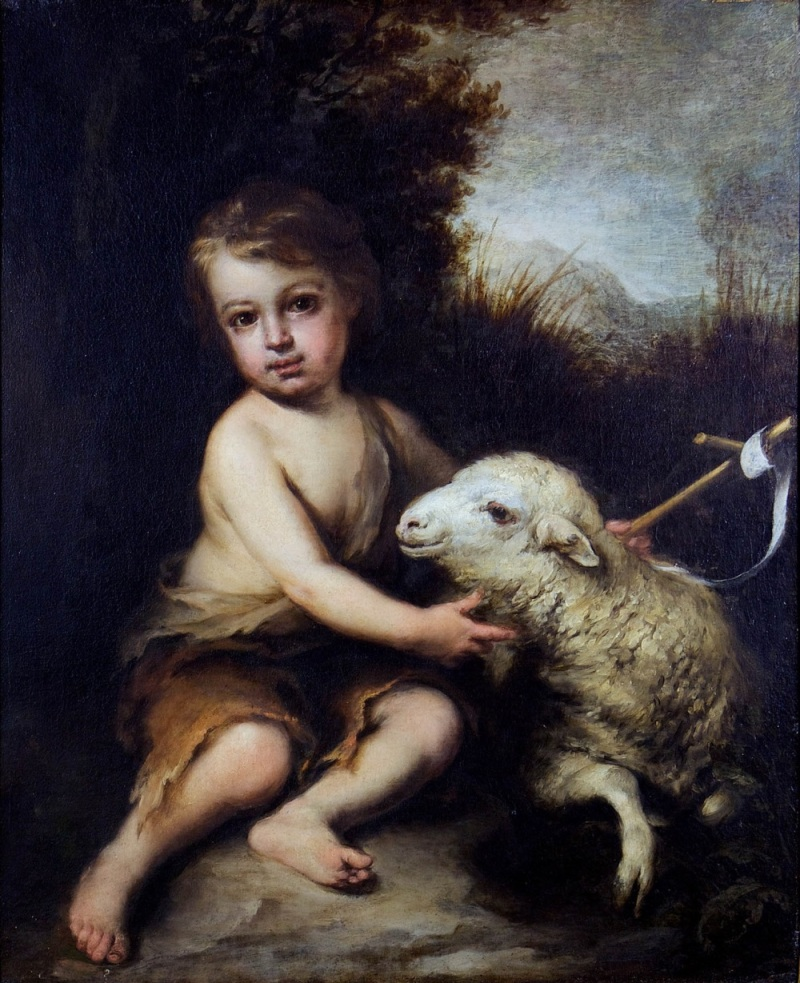 Murillo, The Infant St. John the Baptist in the Wilderness. Collection of Oakland University, Meadow Brook Hall, Michigan.