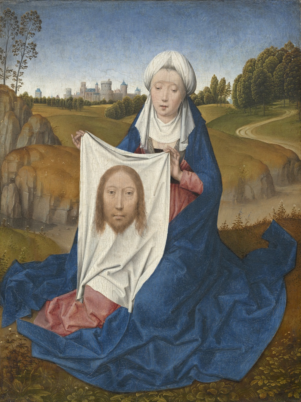 Hans Memling, Saint Veronica, 1470-75. Collection of the National Gallery of Art.