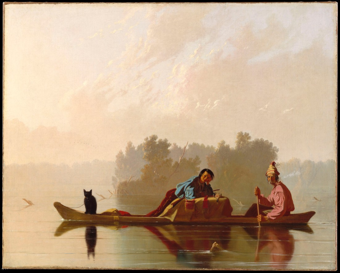 George Caleb Bingham, Fur Traders Descending the Missouri, 1845. Collection of the Metropolitan Museum of Art, New York.