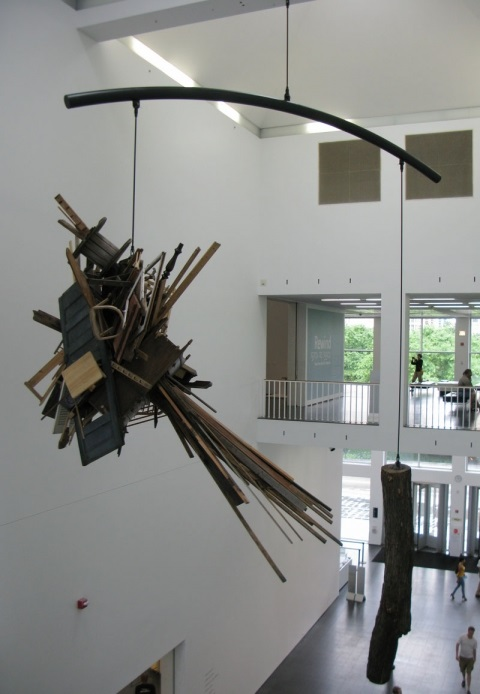 "Jason Middlebrook, installation at the MCA Chicago for ""Alexander Calder and Contemporary Art: Form, Balance, Joy,"" 2010."