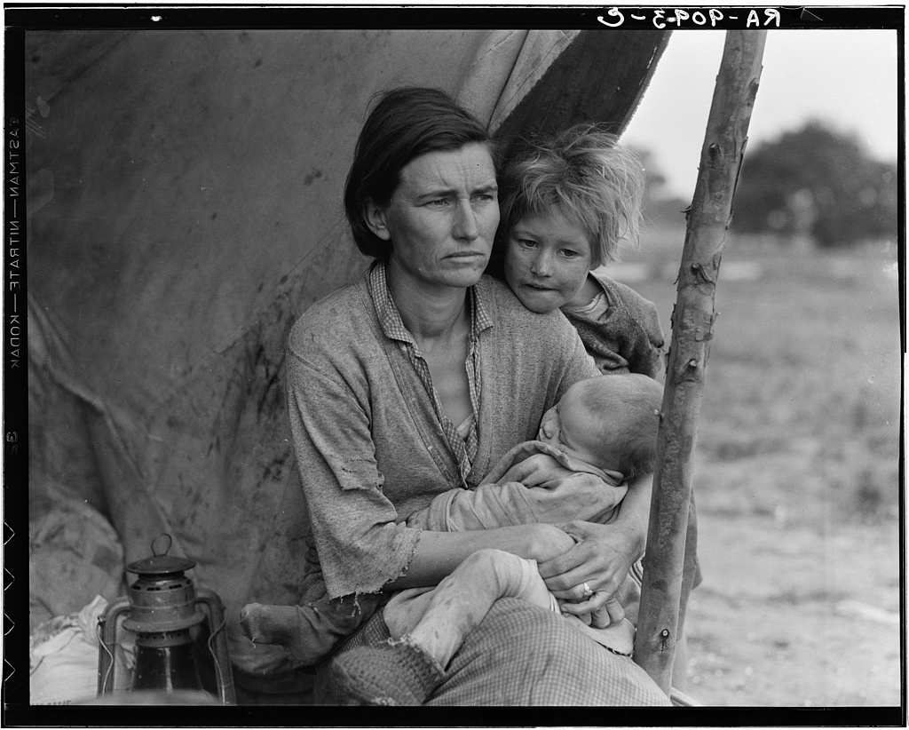 Dorothea Lange, Migrant Mother, Nipomo, Calif., February, 1936.