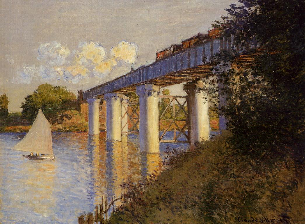 Claude Monet, Railroad Bridge, Argenteuil, 1874. Collection of the Philadelphia Museum of Art.