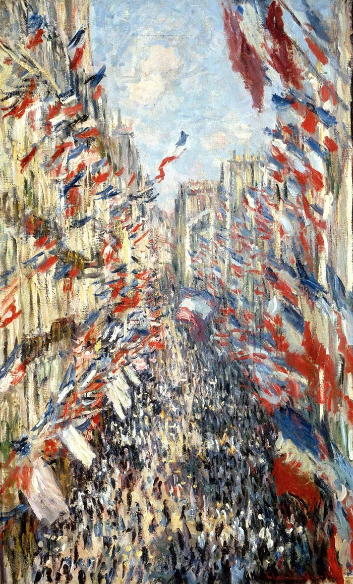 Claude Monet, The Rue Montorgueil in Paris: Celebration of June 30, 1878, 1878. Collection of the Musee d'Orsay, Paris.