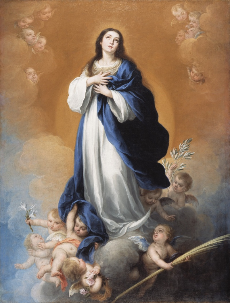 Murillo, The Immaculate Conception, 17th century. Collection of the Detroit Institute of Arts.