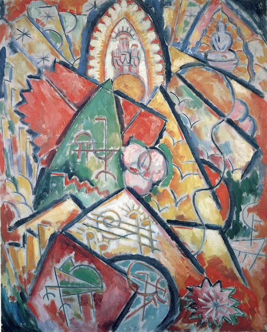 Marsden Hartley, Musical Theme (Oriental Symphony), 1912-13. Collection of the Rose Art Museum at Brandeis University, Waltham, Mass.