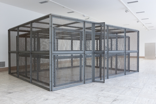 Bruce Nauman, Double Steel Cage Piece, 1974. Collection of the Museum Boijmans van Beuningen, Rotterdam.