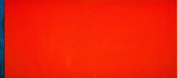 Barnett Newman, Who's Afraid of Red, Yellow and Blue III, 1967. Collection of the Stedelijk Museum, Amsterdam.