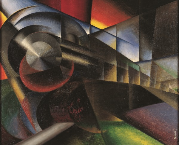 Ivo Pannaggi, Speeding Train, 1922.